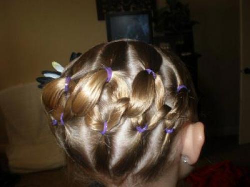 Причёска для девочек на короткие волосы фото пошагово