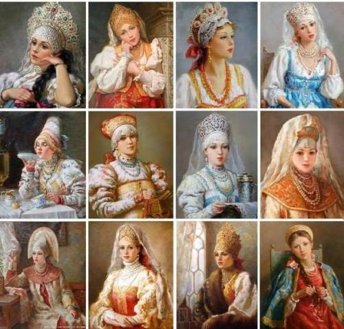 Головные уборы. В русском народном костюме женскому головному убору уделялось особое внимание.