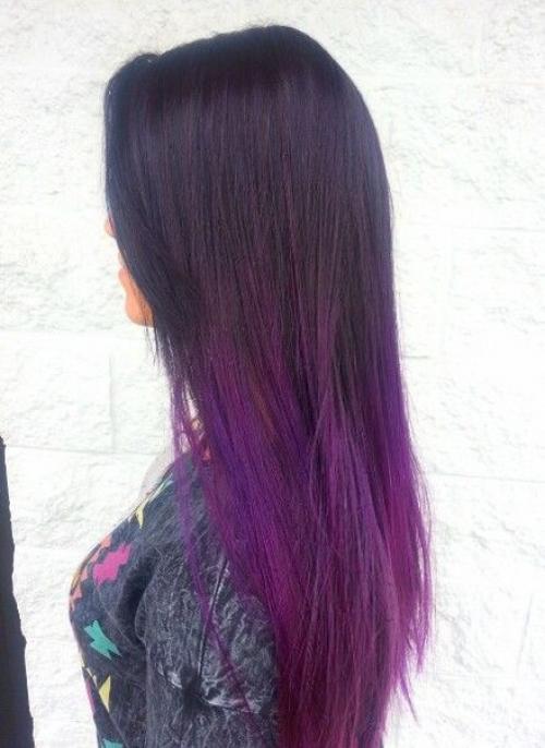 Фиолетовое омбре в домашних условиях