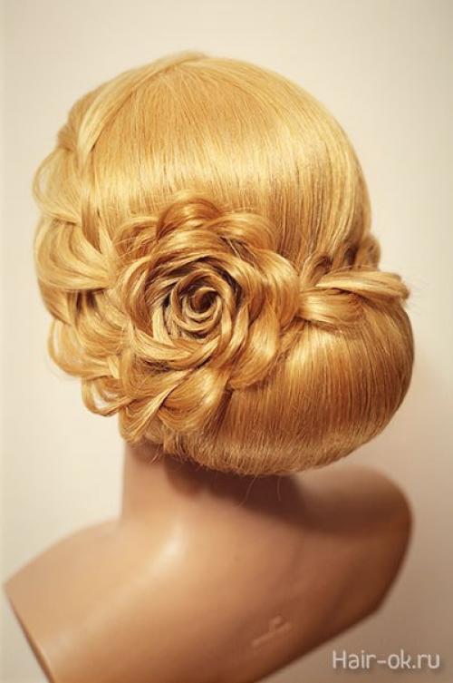 Вечерние прически на средние волосы мастер-класс