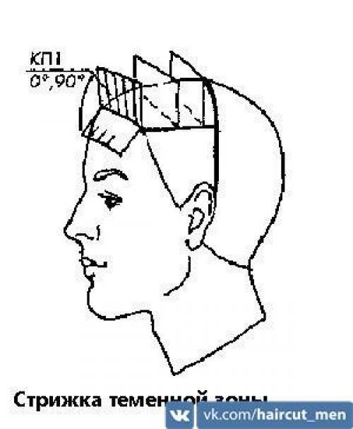 Схема мужской стрижки. Классическая мужская стрижка - точная пошаговая схема выполнения: