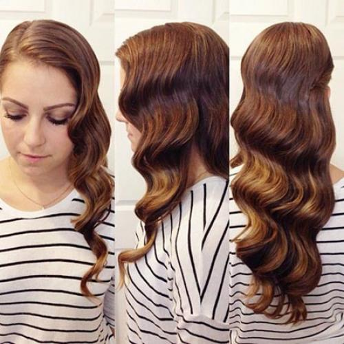 Как сделать волны на длинных волосах с