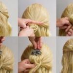Легкая прическа на каждый день больше всего подойдет девушкам, у которых волосы по плечи или доходят до подбородка: