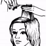 Стрижка каскад на недлинные волосы.