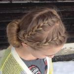 Очаровательная двойная коса - ободок.