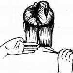 Женская стрижка каре с челкой на косой пробор.