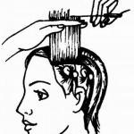Женская стрижка для волос равной длины.