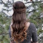 Романтичная коса - полукорона.
