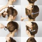Ракушка. Прическу ракушку можно выполнить не только девушкам с длинными волосами, но и обладательницам коротких волос.